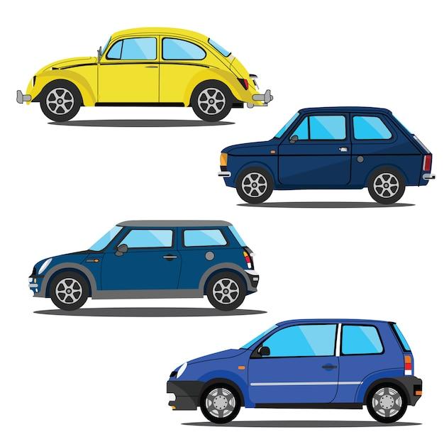 Set car vector illustration template design Premium Vector