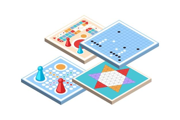 Set di giochi da tavolo impegnativi Vettore gratuito