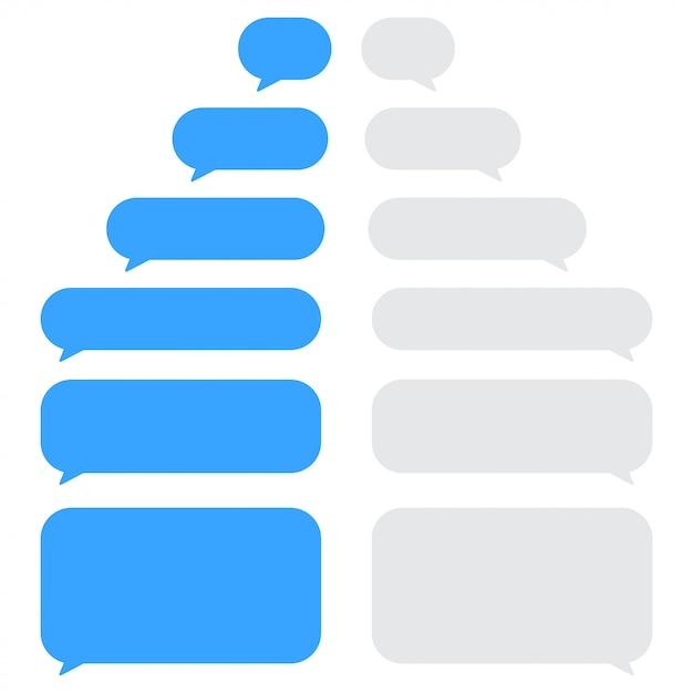 Set of chat speech bubbles. Premium Vector
