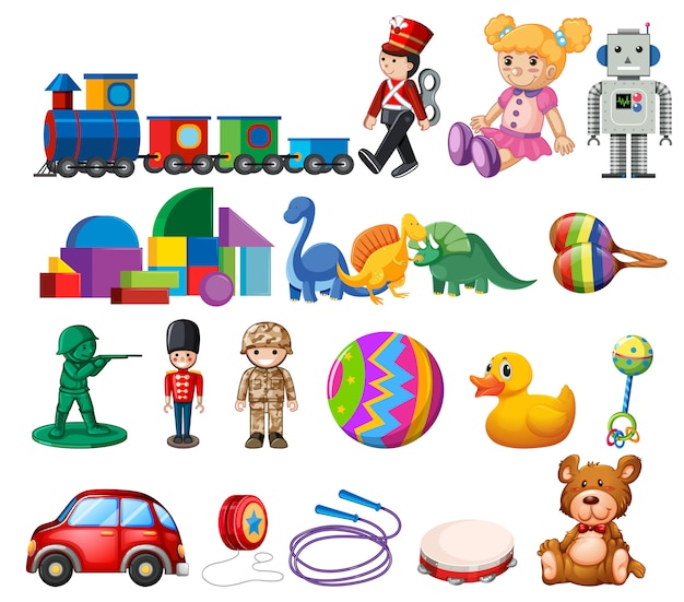 A set of childen toys Premium Vector