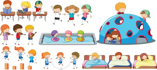 Set of children activity Premium Vector