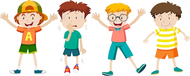A set of children expression Free Vector