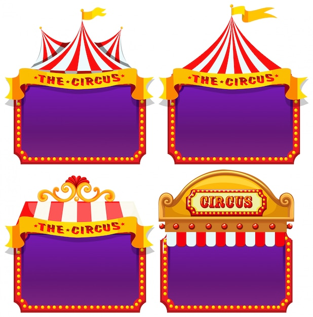 Set of circus banner Free Vector