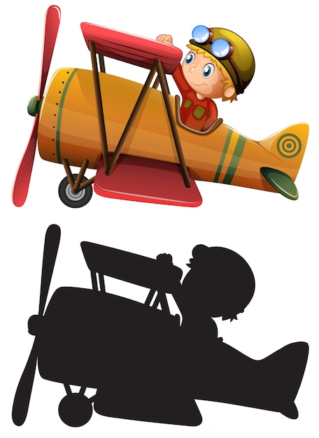 Set of classic airplane Free Vector