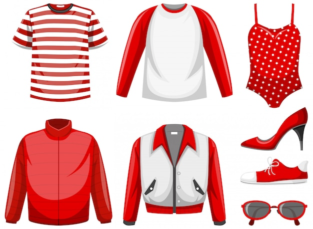 Set of clothes Premium Vector