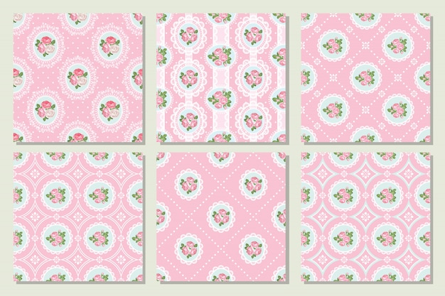 shabby chic easter decor on sale.htm set collection of shabby chic rose seamless pattern in pink color  shabby chic rose seamless pattern