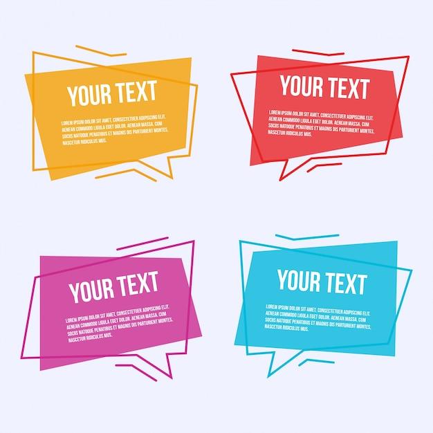 Set di etichette colorate Vettore gratuito