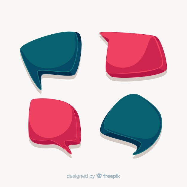 Set of colorful hand drawn speech bubbles Free Vector