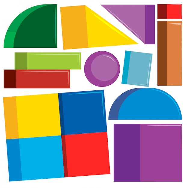 Set of colorful shapes Free Vector