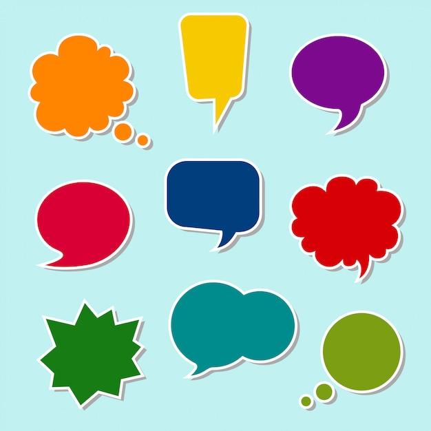 Set of colorful speech bubbles Premium Vector