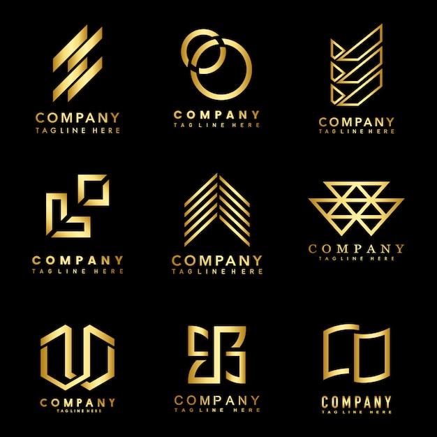 Set of company logo design ideas vector Free Vector