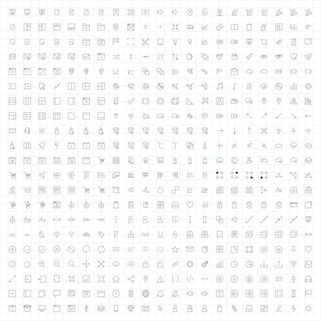 Set of computer icon vectors Free Vector