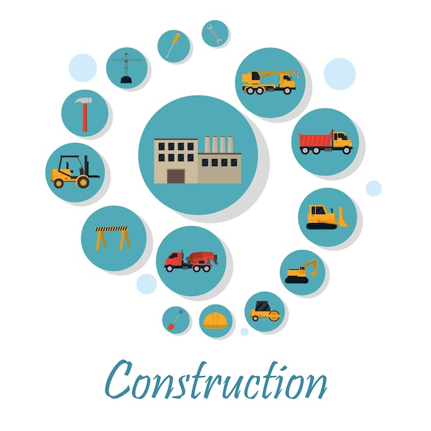 Set of construction icons Premium Vector