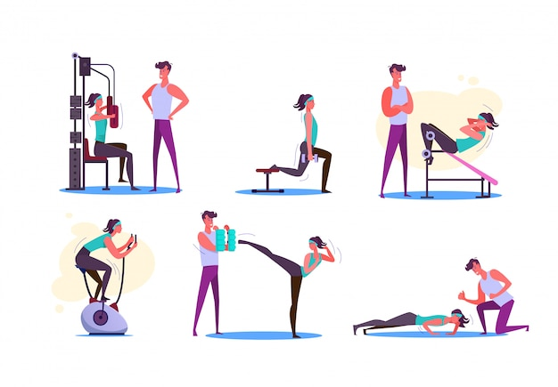 Set of couples exercising Free Vector