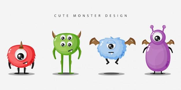 Premium Vector Set Of Cute Monster Design