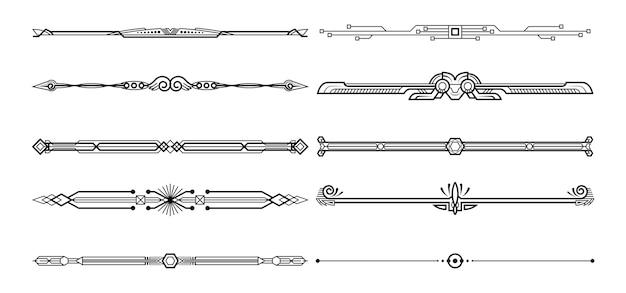 Set of decorative elements. Premium Vector