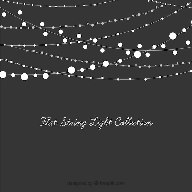 Set of decorative string lights Free Vector