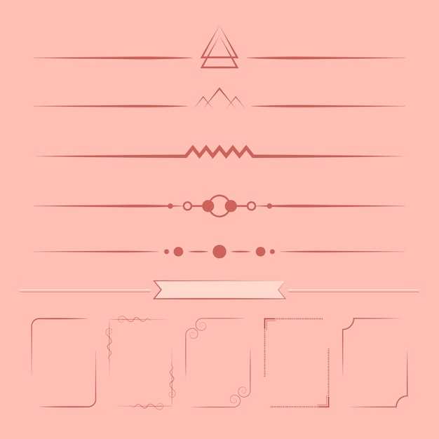 Set of design elements vector Free Vector