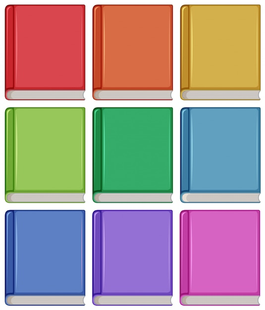 Set of different book cover Free Vector