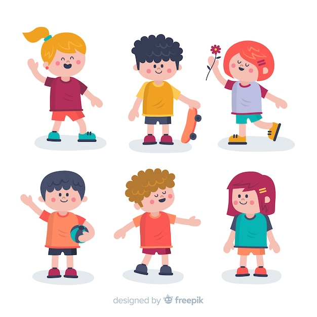 Set of different cartoon people Free Vector