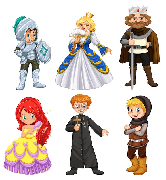 Set of different character Free Vector