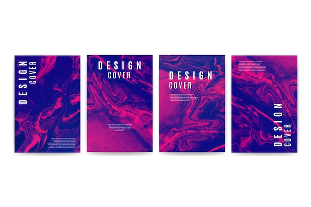 Set of different cover designs Free Vector