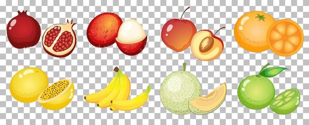 Set di frutta diversa isolata Vettore gratuito