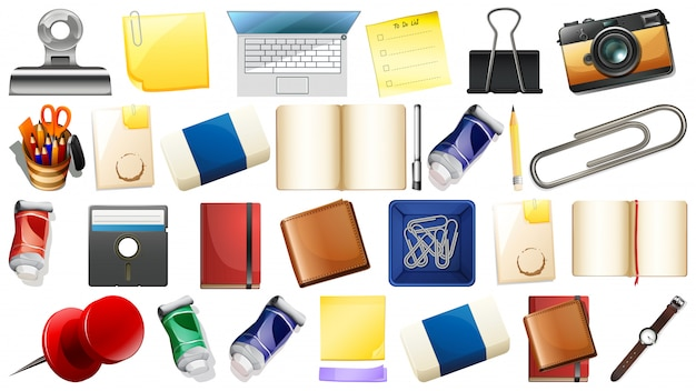 Set of different objects Free Vector