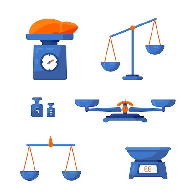 A set of different scales Premium Vector