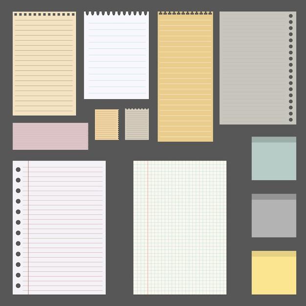 Set of different sheets Premium Vector