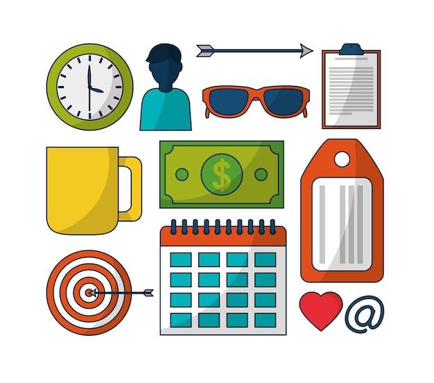 Premium Vector | Set of digital marketing strategy icons