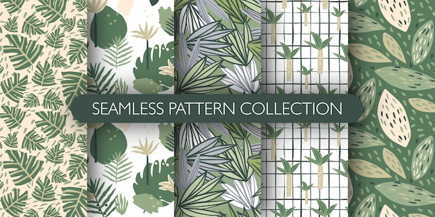 Premium Vector Set Of Doodle Jungle Exotic Leaves Seamless Pattern Cute Tropical Leaf Endless Wallpaper Botanical Vector Illustration «#tropical #leaves #doodle #feathers #firstinawhile #be #creative #green». https www freepik com profile preagreement getstarted 8474947