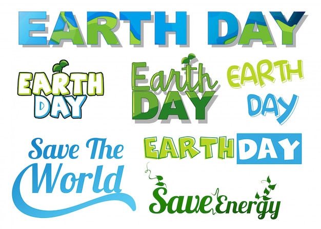 Set of earth letters Free Vector
