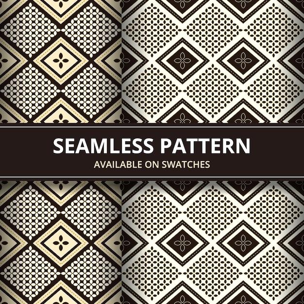 Set Of Elegant Traditional Javanese Indonesia Batik