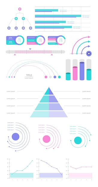 Set elements of infographic Free Vector