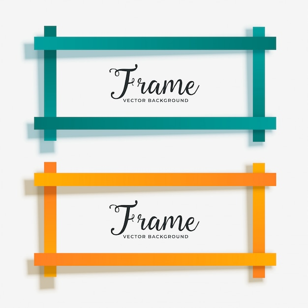 Set of empty geometric frame banner Free Vector