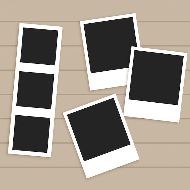 Set of empty photo frames Free Vector