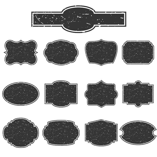 Set of empty stamps. Premium Vector
