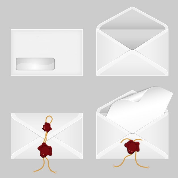 Set of envelopes Premium Vector