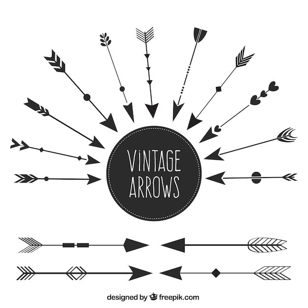 Set of ethnic vintage arrows Free Vector