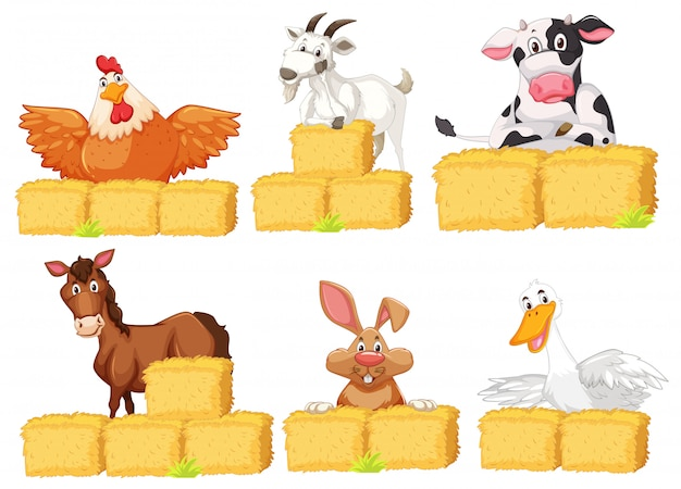 Set of farm animals Free Vector