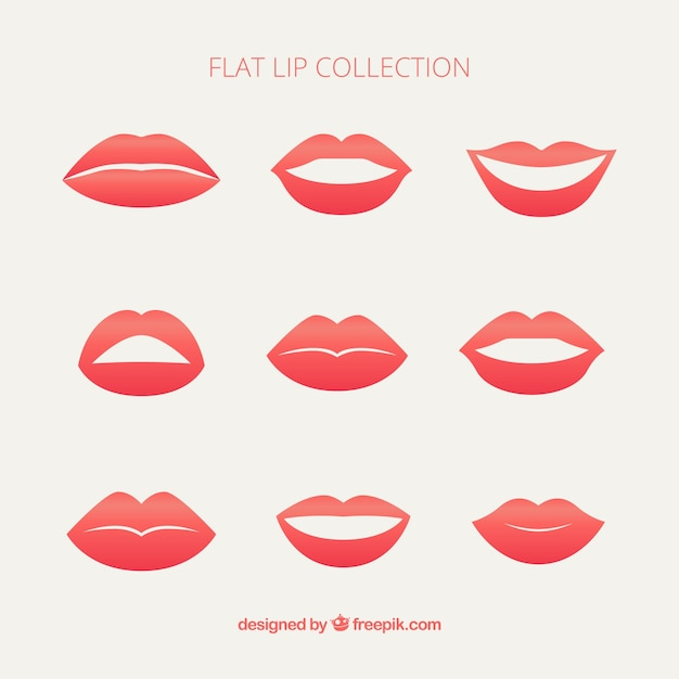 set female lips vector free download