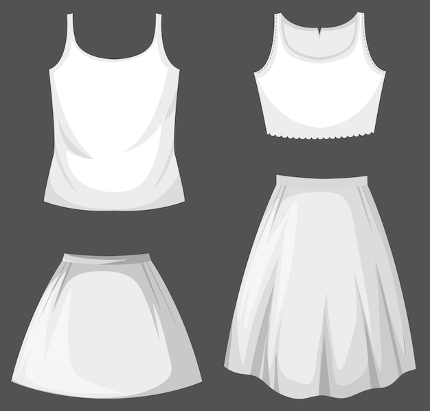 Set of female outfit Premium Vector