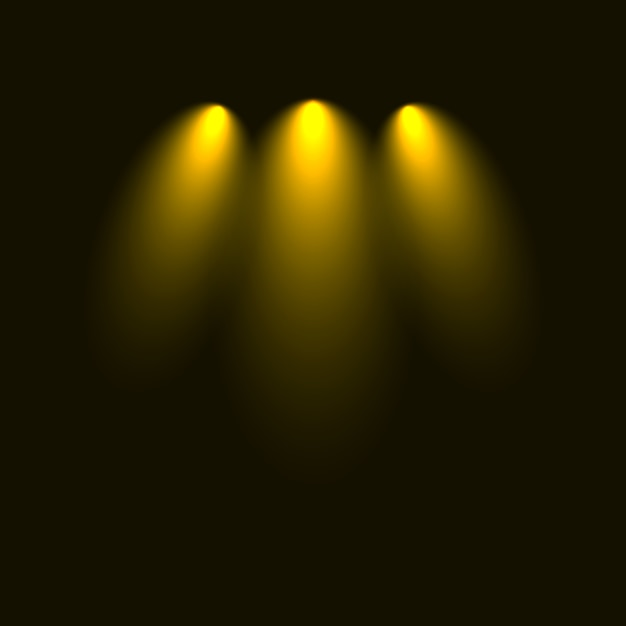 Set of flashes, lights and sparks. abstract golden lights isolated on a transparent background. bright gold flashes and glares Premium Vector