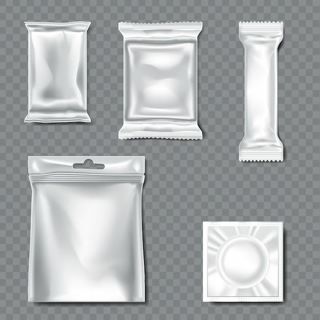 Set of  flow pack on transparent background Premium Vector