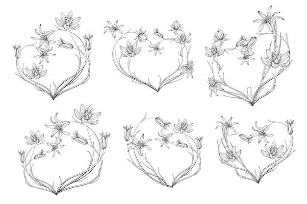 Premium Vector Set Of Flower Arrangements