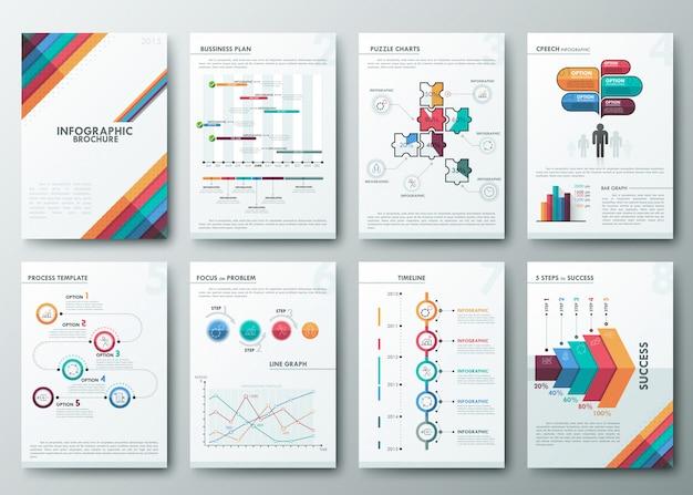 Set of flyer Premium Vector