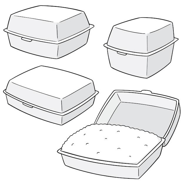 Set of foam boxes Premium Vector