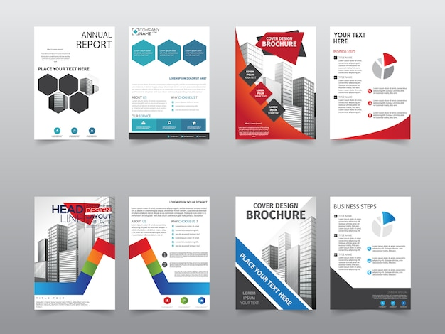 Установка шаблона брошюры «передняя и задняя» Premium векторы