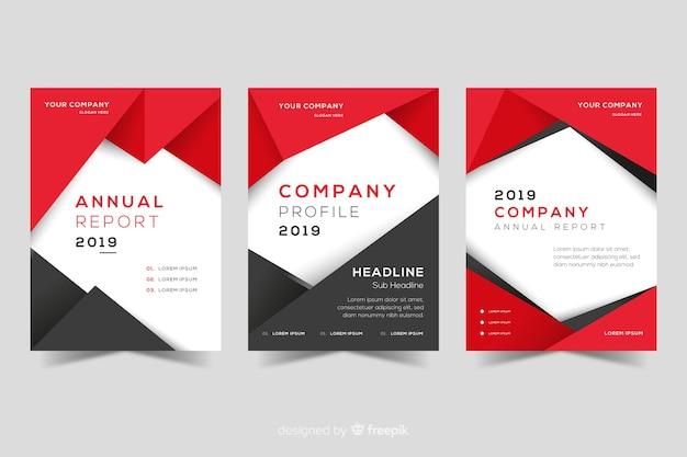 Set of geometric design covers Free Vector